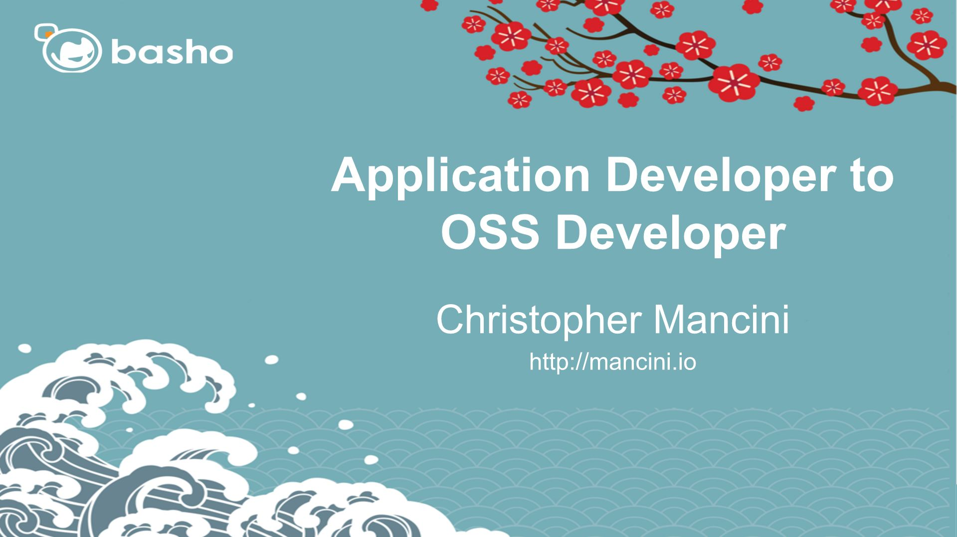 Appplication Developer to OSS Developer